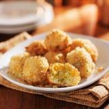 Cheesy panko crusted potato bites Stock Photo