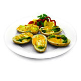 Cheesy Potato Skins royalty free stock photography