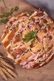 Cheesy pull apart bread Royalty Free Stock Photos