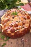 Cheesy pull apart bread Stock Photos