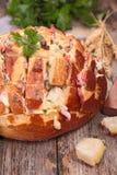 Cheesy pull apart bread Stock Image