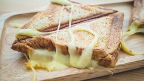 Cheesy sandwiches toast. Royalty Free Stock Photos