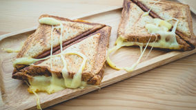 Cheesy sandwiches toast. Royalty Free Stock Photography