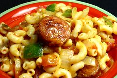 Cheesy Sausage Macaroni Dish Royalty Free Stock Image
