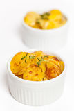 Cheesy Scalloped Potatoes Royalty Free Stock Photography