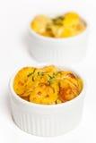 Cheesy Scalloped Potatoes Royalty Free Stock Photography