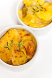 Cheesy Scalloped Potatoes Stock Photos