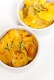 Cheesy Scalloped Potatoes Stock Photos