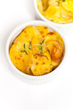 Cheesy Scalloped Potatoes Royalty Free Stock Image