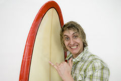 Cheesy Surf Shot Royalty Free Stock Photo