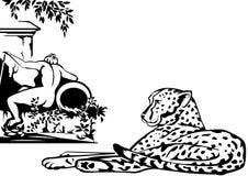 cheetah royaltyfri illustrationer