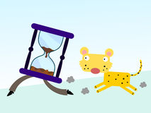 Cheetah against time Stock Photos