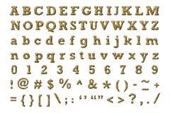 Cheetah alphabet Royalty Free Stock Photos