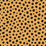 Cheetah animal print vector seamless pattern stock illustration