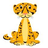 Cheetah Cartoon Clipart. A cute cheetah sitting cartoon Vector Illustration