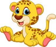 Cheetah cartoon. Cute cartoon cheetah on a white background Stock Photography