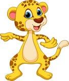 Cheetah cartoon. Cute cartoon cheetah on a white background Stock Photos