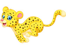 Cheetah cartoon running Stock Photo