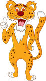Cheetah cartoon with thumb up Stock Photos