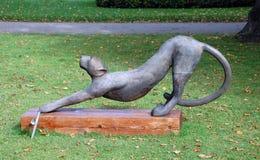 Cheetah. COPENHAGEN, DENMARK - SEPT 28, 2012 - Cheetah. Modern sculpture in the park of the castle Rosenborg. Copenhagen, Denmark Royalty Free Stock Photography