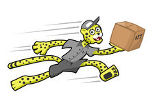 Cheetah deliveryman Royalty Free Stock Photos
