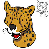 Cheetah Face Royalty Free Stock Photography
