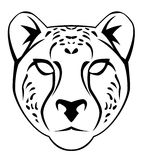 Cheetah face. Illustrator desain .eps 10 Royalty Free Stock Photos