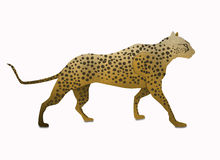 Cheetah form paper art  isolated on white Royalty Free Stock Photo