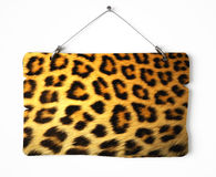 Cheetah fur notice board Royalty Free Stock Image