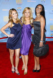 The Cheetah Gilrs. The Cheetah Girls attend the DVD Premiere of `High School Musical 2` held at the El Capitan Theater in Hollywood, California, United States on Stock Photo