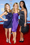 The Cheetah Gilrs. The Cheetah Girls attends the DVD Premiere of `High School Musical 2` held at the El Capitan Theater in Hollywood, California, United States Royalty Free Stock Photos