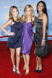 The Cheetah Gilrs. Cheetah Girls attends the DVD Premiere of `High School Musical 2` held at the El Capitan Theater in Hollywood, California, United States on Stock Images
