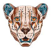 Cheetah head zentangle stylized, vector, illustration, pattern, Stock Images