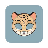 Cheetah mask for various festivities, parties Royalty Free Stock Photography