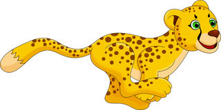 Cheetah run cartoon Royalty Free Stock Image