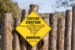Cheetah sign Royalty Free Stock Photography