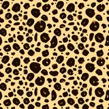 Cheetah skin seamless texture, leopard background Royalty Free Stock Photo