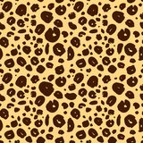 Cheetah skin seamless texture, leopard background. Endless texture Stock Images