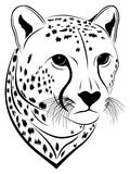 Cheetah, tattoo Stock Photography