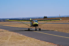 Cheetah Ultralight Airplane - Takeoff. On the apron, preparing for take-off Royalty Free Stock Photos