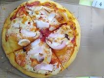 Cheezey cebuli pizza fotografia stock