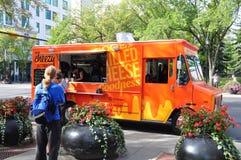 Cheezy Bizness食物卡车 免版税库存照片