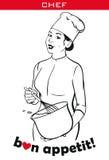 Chef夫人 库存图片
