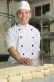 Chef à la pâtisserie image stock