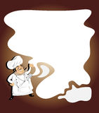 Chef. Vector illustration of chef with writing pad,board royalty free illustration