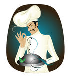 Chef. Vector illustration of chef with abstract bacground,eps or jpg stock illustration