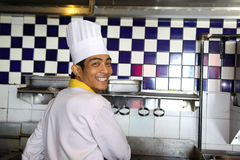 Chef. Working and smiling at work Stock Photos