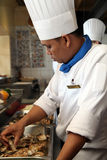 Chef. Working in the kitchen Stock Photography