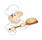 Chef. Illustration of a cook on a white background Royalty Free Stock Photos