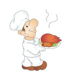 Chef. Illustration of a cook on a white background Royalty Free Stock Images